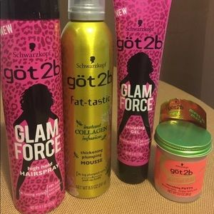 Got2b Lot of 4 styling products